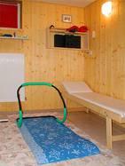 Bauchmuskeltrainer und Entspannungsliege